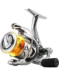 Skysper Moulinet de Pêche en Métal 10 + 1 Roulements à Billes Gauche / Droite Interchangeables Spinning Reel