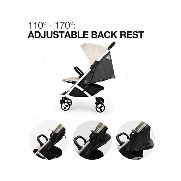 Allis Lightweight Baby Pram Pushchair Buggy Travel Stroller Plume - Beige  Made according to British Standard EN1888, Fabrick OKo-Tex standard 100 and Fire Safety Regulations 1988. Lockable 360 swivel wheels, removable and suspension Lightweight 5.8Kg only, Easy to fold with one hand only 8