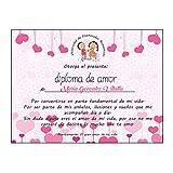 Regalo Pareja Enamorados/Diploma de Amor Personalizado/Novio/Novia/Chico/Chica/Hombre/Mujer/Para San Valentin Navidad Aniversario Cumpleaños Navidad