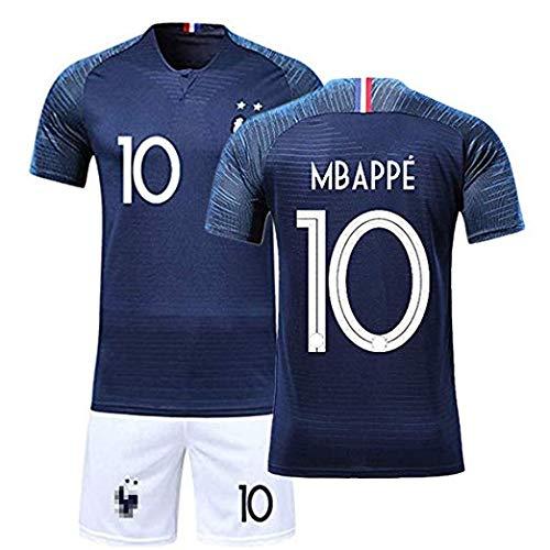 8ee267f1a ZIGJOY Maillots de Football Enfants de France Soccer Jersey 2018 Coupe du  Monde France 2 Étoiles