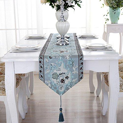 GS~LY Warm/unico 100% seta jacquard tessuto elegante 3D Embroidery tovaglia runner tabella , 1 , 32*250cm
