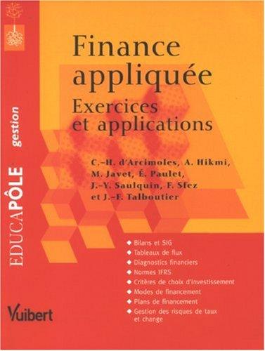 Finance appliquée : Exercices et applications