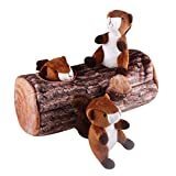 IFOYO Squeak Dog Toys, Large Durable Squirrel Hide and Seek Puzzle Plush Dog Toys for Medium/Small Dogs, Pets, Halloween Christmas Dog Toy