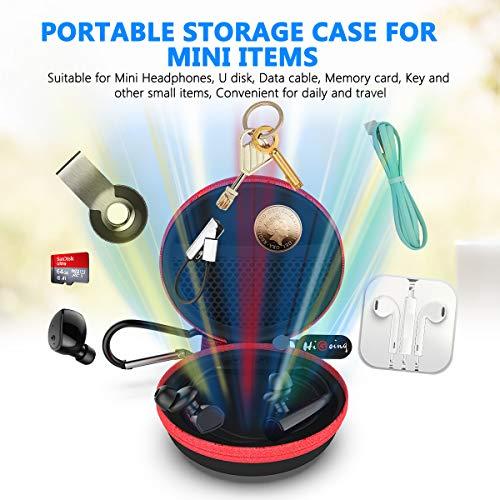 Mini Kopfhörer Tasche mit Schnalle, HiGoing Headset ohrhörer Schutztasche für In Ear Ohrhörer, MP3 Player, iPod Nano, Schlüssel, Lovely Macarons Aussehen (Innenmaß 6.8cm x 6.8cm x 4.0cm) (Rot) - 3