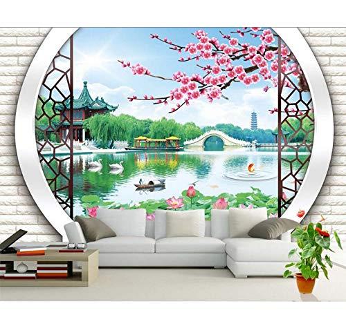Mkkwp Kundenspezifisches Wandgemälde Des Landschaftsmalers 3D Chinesisches Designtapete Wandwohnzimmersofa Fernsehwand-Schlafzimmertapete-350x245cm -