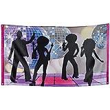 Boland 00738–Banderole Banner Disco Party 150x 90cm, multicolore