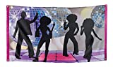 Boland 00738 - Banderole Banner Disco Party 150 x 90 cm, Multicolore