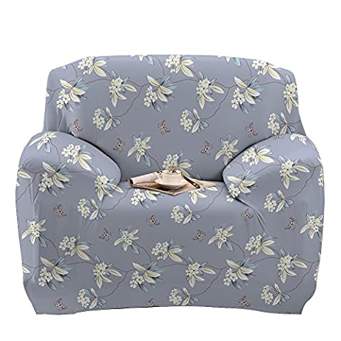 Stretch Arm Chair Cover - Sofa Covers Slipcover Sofa - 1-Piece 1 2 3 4 Seater Furniture Protector Polyester Spandex Fabric Armchair Slipcover With a Pillow Cover for Children and Pets Pear