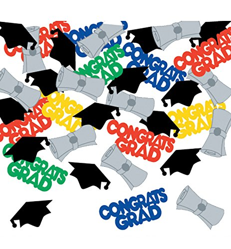 Creative Converting Konfetti für den Studienabschluss, Schriftzug in englischer Sprache, vielfarbig