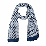 Zen * EthicEtole Peacock Cotton Block PrintVeil -  Blue - One Size