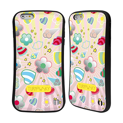 Ufficiale Turnowsky Gerghi Scoop Case Ibrida per Apple iPhone 6 Plus / 6s Plus Emoji