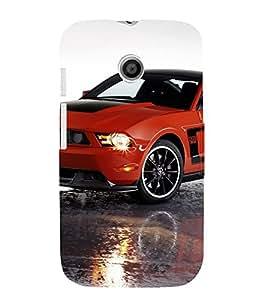 EPICCASE Red Car Mobile Back Case Cover For Moto E (Designer Case)