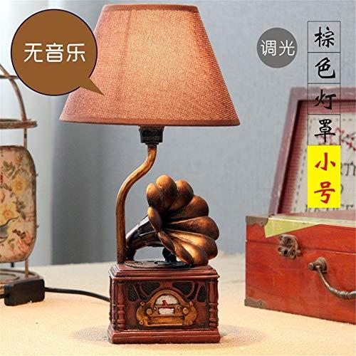 YU-K In den Klang der antiken Tisch Lampe Schlafzimmer Nachttischlampe personalisierte LED dimmbar Tischlampe, 18 * 34 CM, BRAUN - In Antik-braun-tisch-lampe