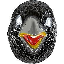 NET TOYS Máscara Cuervo Careta corneja Negro Antifaz Animal Mascarilla pájaro Negro Cubre Rostro Carnaval Ave