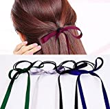 Jellbaby New velvet bow ribbon ribbon hair band Korea wild tie hair band Ribbon 5, color random
