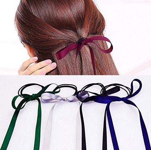 Preisvergleich Produktbild Jellbaby Samtband Schleife sendet das Seil Gurtband elastischer Ring 5,  zufällige Farben