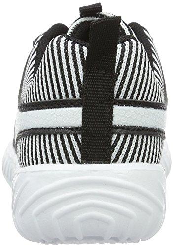 KangaROOS Ele, chaussons d'intérieur mixte enfant Noir (noir/blanc)