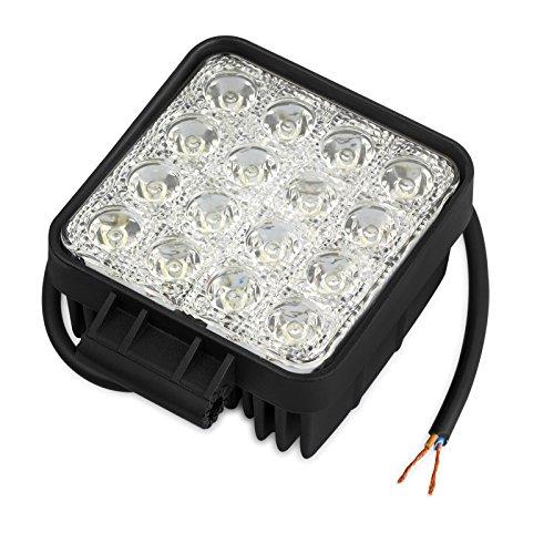 Justech 48W Faro da Lavoro Luci Off Road Barra LED Luce di Profondita\' a LED Luci di Inondazione Lampada Luci da Lavoro Luce di Proiettore a LED Proiettore Rifletto