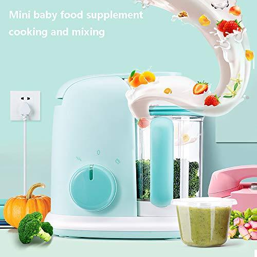Küchenmaschine Multifunktional, Dampfgarer Baby 4 in 1 mit Lebensmittelechtes Material Tritan, 600 ml, 400 W, Intelligente Abschaltung, Schneidkopf aus 304 Edelstahl, ABS-Kunststoffschale (Grün) (Kitchenaid-spachtel-mixer)