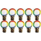 LED Bulb-0.5W-Round-B22 Base-Multi(Colour Change) Colour-10pcs Pack-By Origin(Manufacturer)