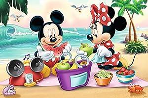 TREFL-Maxi Puzzle bajo Licencia Mickey & Minnie Mouse 24Piezas, 14236u