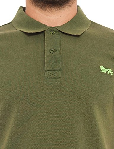 Lonsdale Poloshirt Herren Short Sleve Lion Logo Army