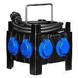 ALLEGRA Stromverteiler Aussen 16a Zwischenzähler PH06, MID geeicht, FI Schutz, 4 Anschlüsse