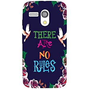 Moto G Phone Cover - No Rules Matte Finish Phone Cover