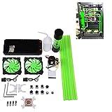 Lazmin Kit de Refroidissement à Eau pour Ordinateur avec dissipateur de Chaleur du CPU, dissipateur de Chaleur du Ventilateur LED du réservoir de la Pompe avec Bloc CPU de 240 mm