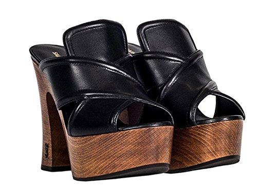 Saint-Laurent-YSL-wooden-heel-clogs-in-black-leather-Model-number-457800-DWLTT-1000