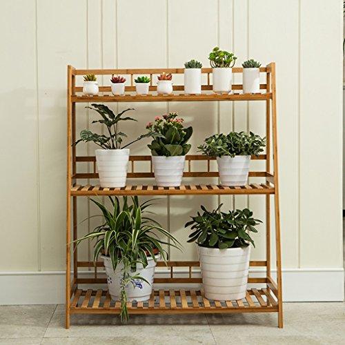 Bambus-Blumen-Rack, Multi-Tier, suspendiert, Balkon-Blumentopf-Rack, Multifunktions-Pflanzenständer ( größe : 80cm )