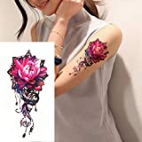 7pcs Metallic Tattoo Frauen Tattoo Tattoo für PC Hot reizvolle schwarze Spitze