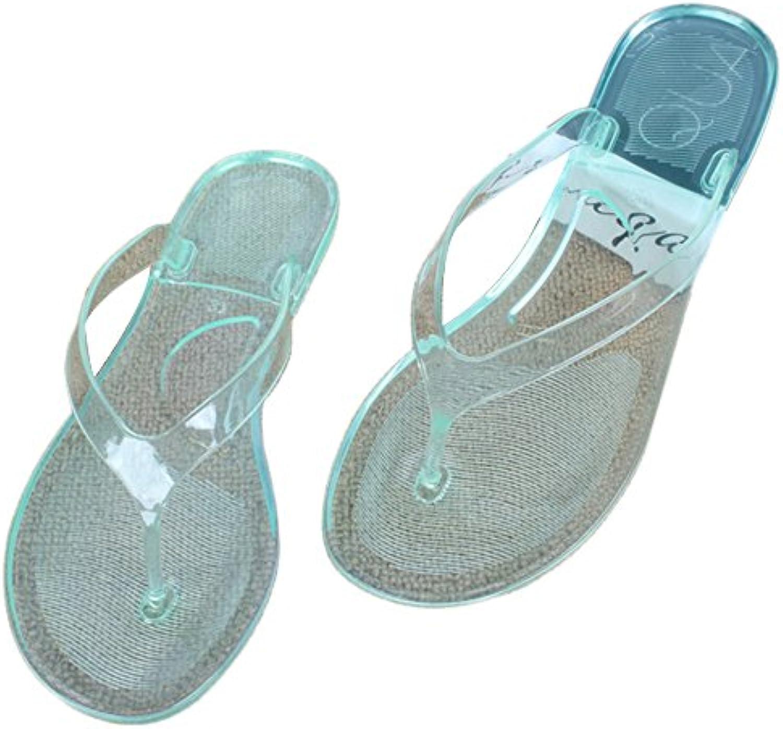 Dihope Damen Rutschfest Flip-Flops Transparent Hausschuhe Zehentrenner Mädchen Sommer Sandalen Strand Schuhe