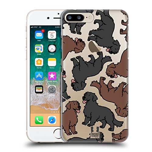 Head Case Designs Flat Coated Retriever Hunderassen Muster 11 Ruckseite Hülle für Apple iPhone 7 Plus / iPhone 8 Plus (Der Head T-shirt, Flat)