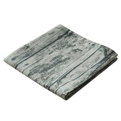 aihometm Vintage algodón y mantel de lino (grano de corteza de madera–Mesa...