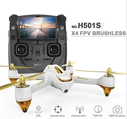 XT-XINTE Cheating in to duration prevarication Hubsan H501S X4 5.8G FPV RC Drone With 1080P HD Camera Quadcopter with GPS Do out Me CF Sapient Appliance-driven Substitute