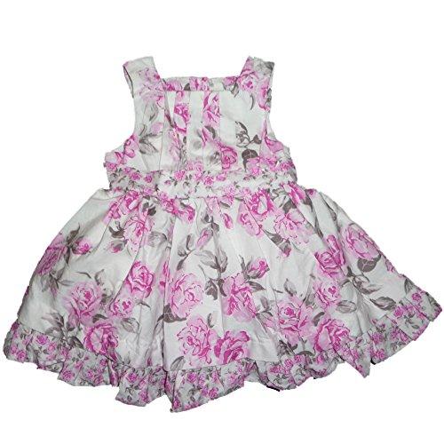 Maggie & Zoe Baby Kinder Mädchen Peticoat Sommer Rüschen Kleid + Unterhose Rosen Blumen Design (62) (Kleider Von Zoe Blumen)