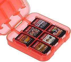 AmazonBasics - Aufbewahrungsbox für Spiele der Nintendo Switch - Rot