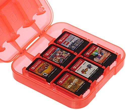 AmazonBasics - Custodia porta cartucce di gioco per Nintendo Switch - Rosso
