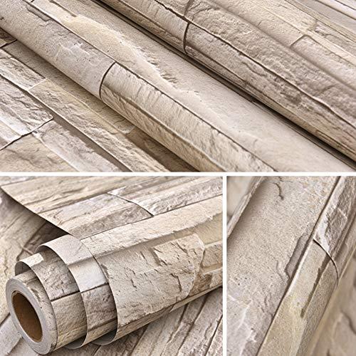 fenjinsheng Fliesenaufkleber 60X300Cm Faux Brick 3D Wallpaper Roll Für Retro Wohnzimmer Küche Wanddekor Vinyl Selbstklebende Folie PVC wasserdichte Wandbild Tapete