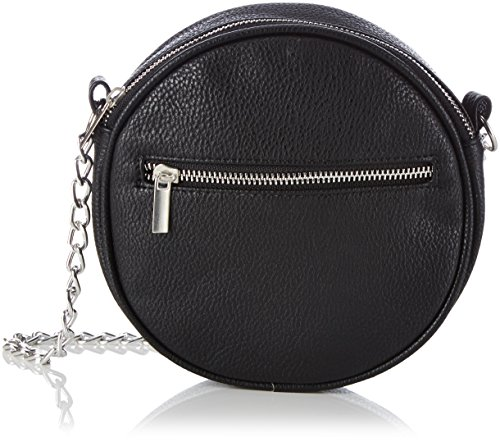 PIECES Pcelura Cross Over Bag 17070633 Damen Henkeltaschen 18x18x4 cm (B x H x T), Schwarz (Black Black)