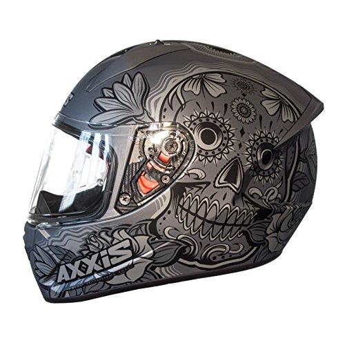 Casco Axxis STINGER DAYDEAD Gris Mate MEXIKAN SKULLS, CALAVERAS MEJICANAS CALAVERAS MEXICANAS (S)