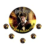 Harry Potter Personalisierte Kuchen Topper Puderzucker Papier 19,1cm Bild E5