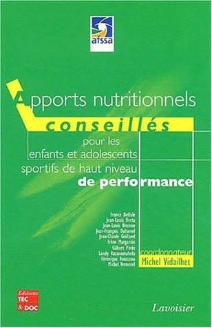 Apports nutritionnels conseills pour les enfants et les adolescents sportifs de haut niveau de performance
