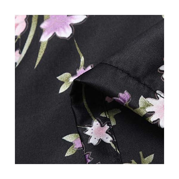 Vectry Abrigo Bebé, Niña Ropa Infantil Otoño Invierno Floral Seda Satén Kimono Albornoces Albornoz Ropa De Dormir Ropa… 3