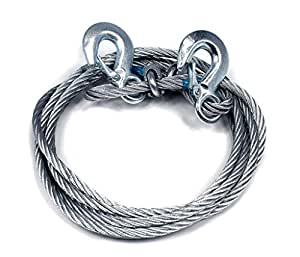 Motoway Car Auto Full Steel Towing Tow Cable Rope Heavy Duty Ton 4 Mtr For Ford Endeavour