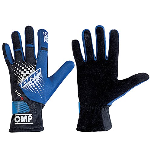 OMPRACING Omp KS-4 KS4 Guanti Kart KK02744E in 6 Colori - Updated Model for Karting, Blue/Black, XXS (USA 7) 12.5-16.5cm