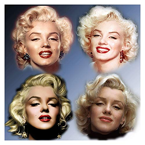 DIY Diamond Painting Kits for Kids Adults,5D Full Drill Diamond Painting Sexy Marilyn Monroe,Crystal Rhinestone Embroidery Pictures Arts Craft for Home Wall Decor,15.7×15.7in (Marilyn Picture Frames Monroe)