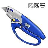 S&R Taglierino Professionale Automatico / Taglierino 175 millimetri, SK5, Pulsante per cambio Lame, Impugnatura di Protezione, 5 Posizioni
