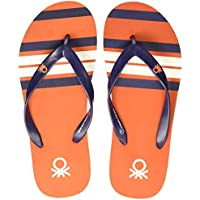 United Colors of Benetton Men's Orange Flip-Flops - 9 UK/India (43 EU)
